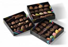 chocolats assortis boite 2 plateaux avec message