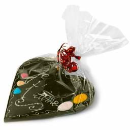 coeur chocolat décoré