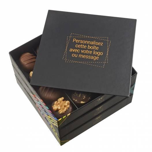 chocolats assortis boîte personnalisable