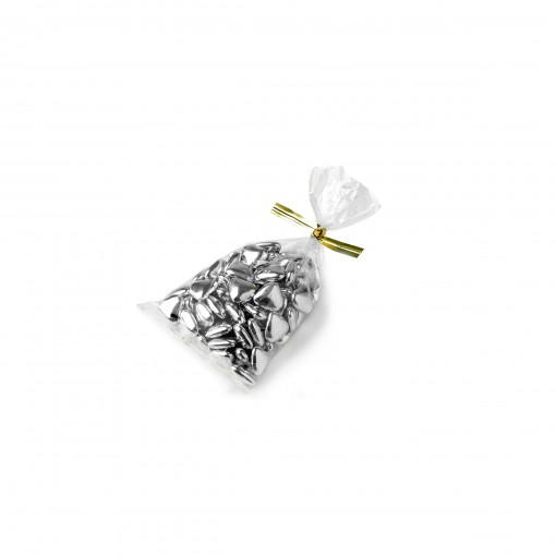 petits coeurs chocolat argent ou or