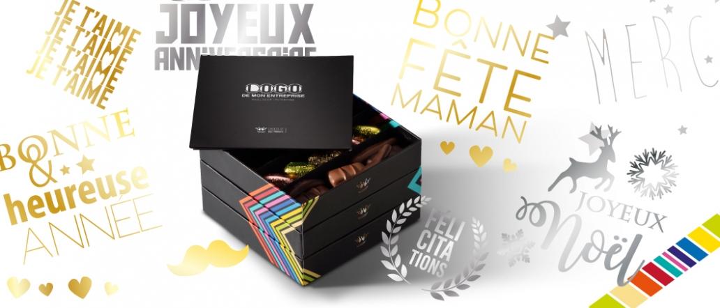 chocolats assortis boite personnalisable